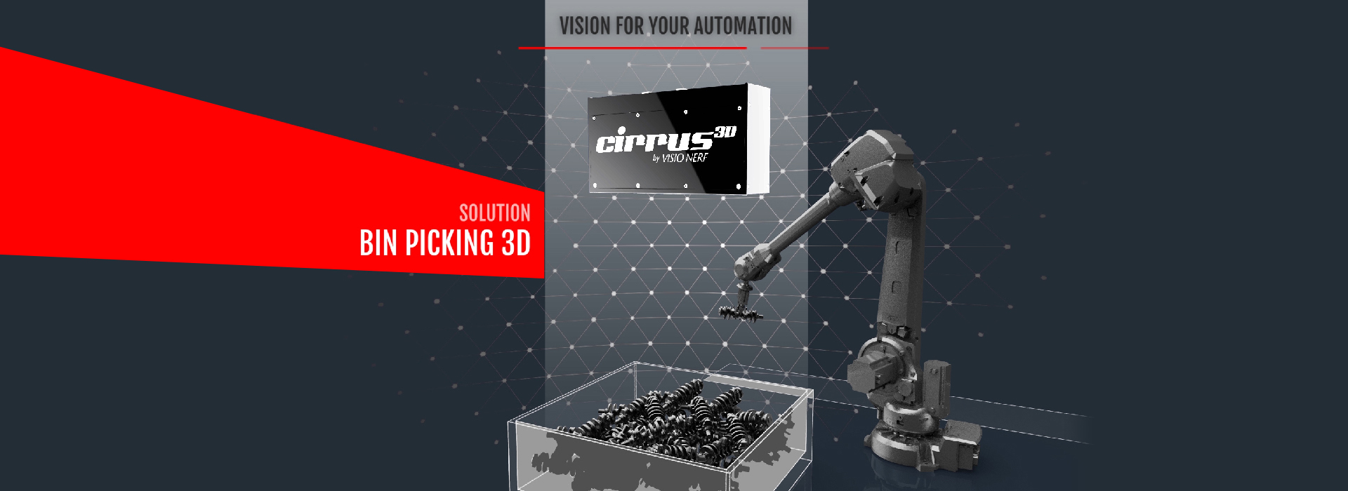 VISIO NERF - 3D Bin Picking